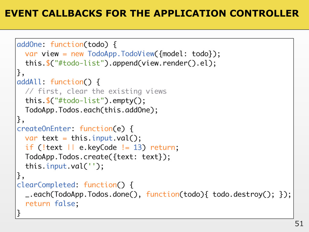 EVENT CALLBACKS FOR THE APPLICATION CONTROLLER ...