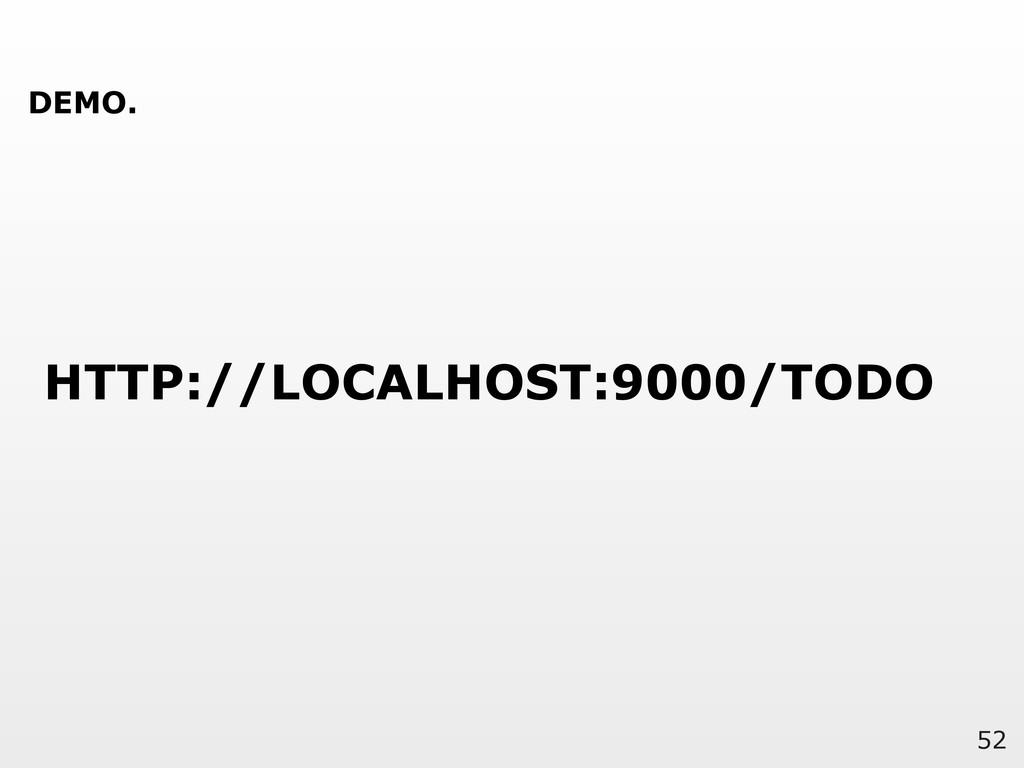 52 HTTP://LOCALHOST:9000/TODO DEMO.