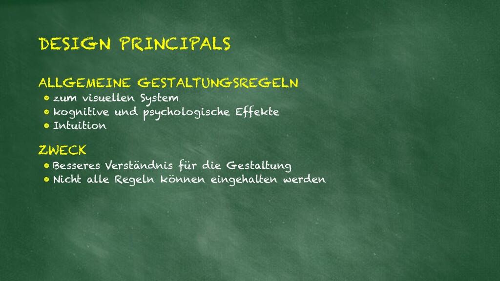 DESIGN PRINCIPALS ALLGEMEINE GESTALTUNGSREGELN ...