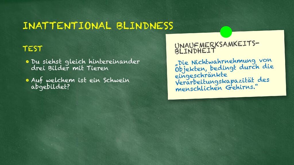 INATTENTIONAL BLINDNESS TEST • Du siehst gleich...