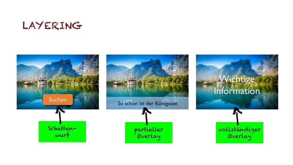 LAYERING So schön ist der Königssee Wichtige In...