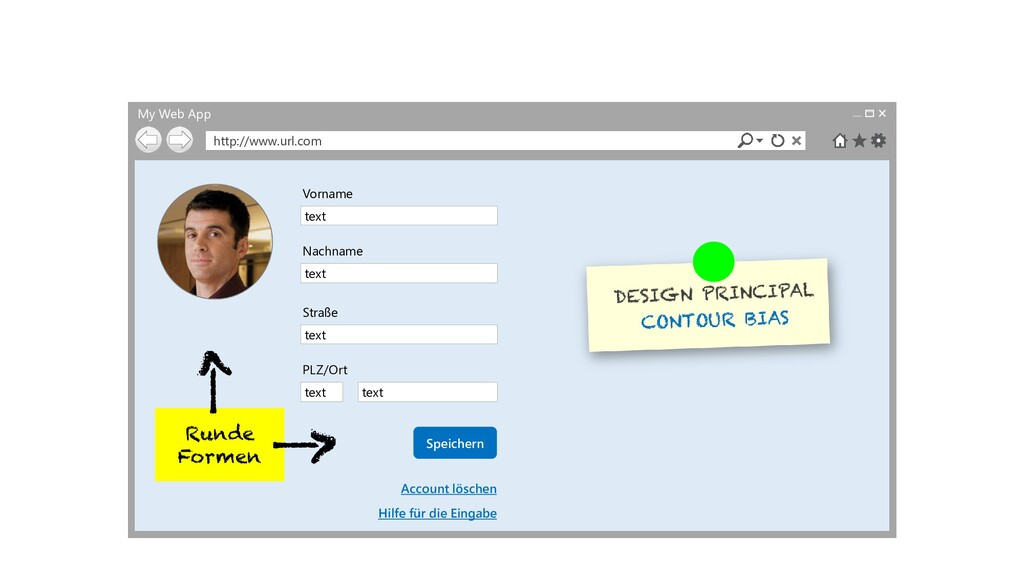 My Web App http://www.url.com text Vorname text...