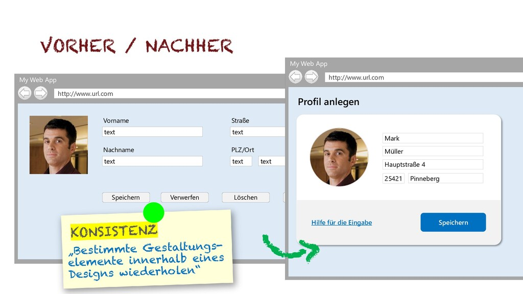 My Web App http://www.url.com Speichern Verwerf...