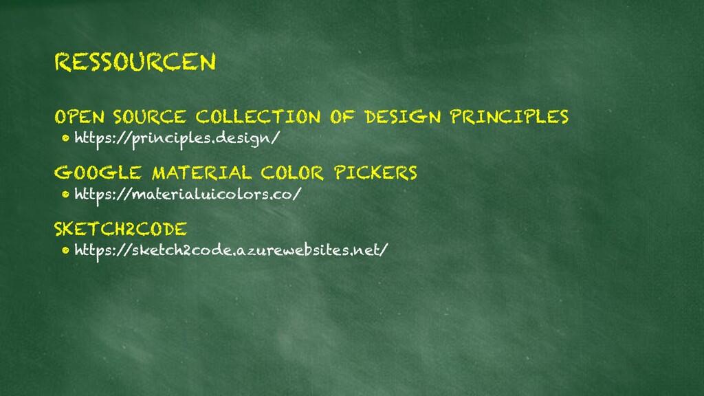 RESSOURCEN OPEN SOURCE COLLECTION OF DESIGN PRI...