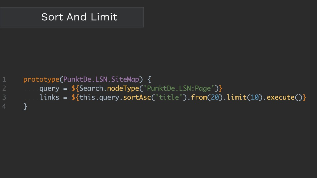 Sort And Limit