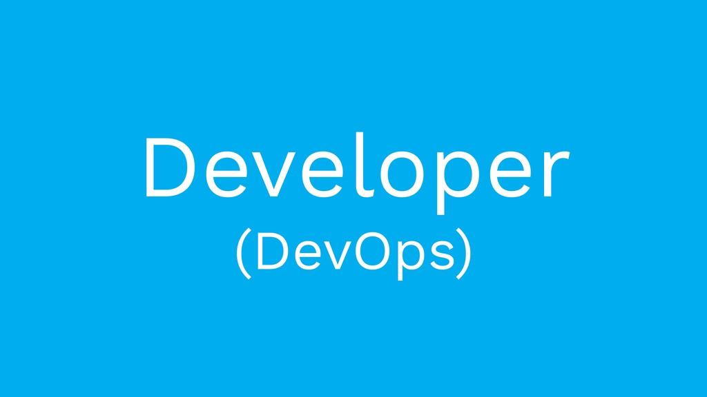 Developer (DevOps)