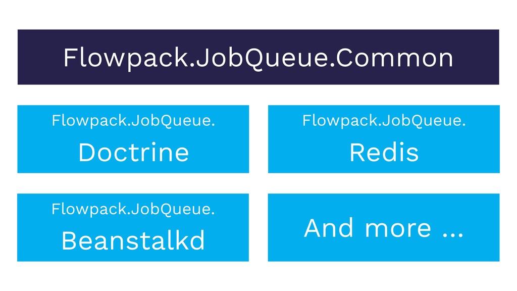 Flowpack.JobQueue.Common Flowpack.JobQueue. Doc...