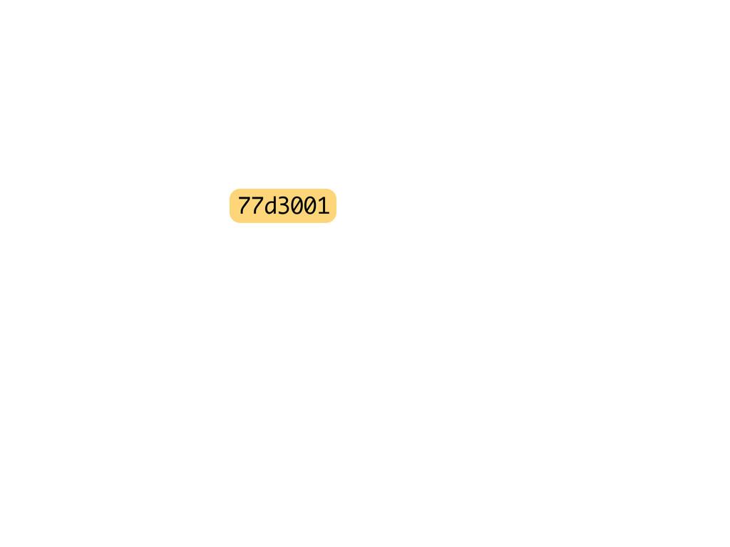 77d3001