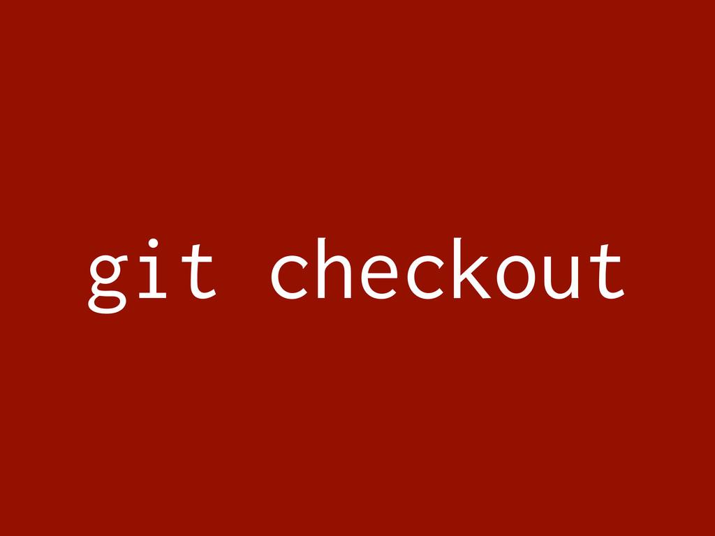 git checkout