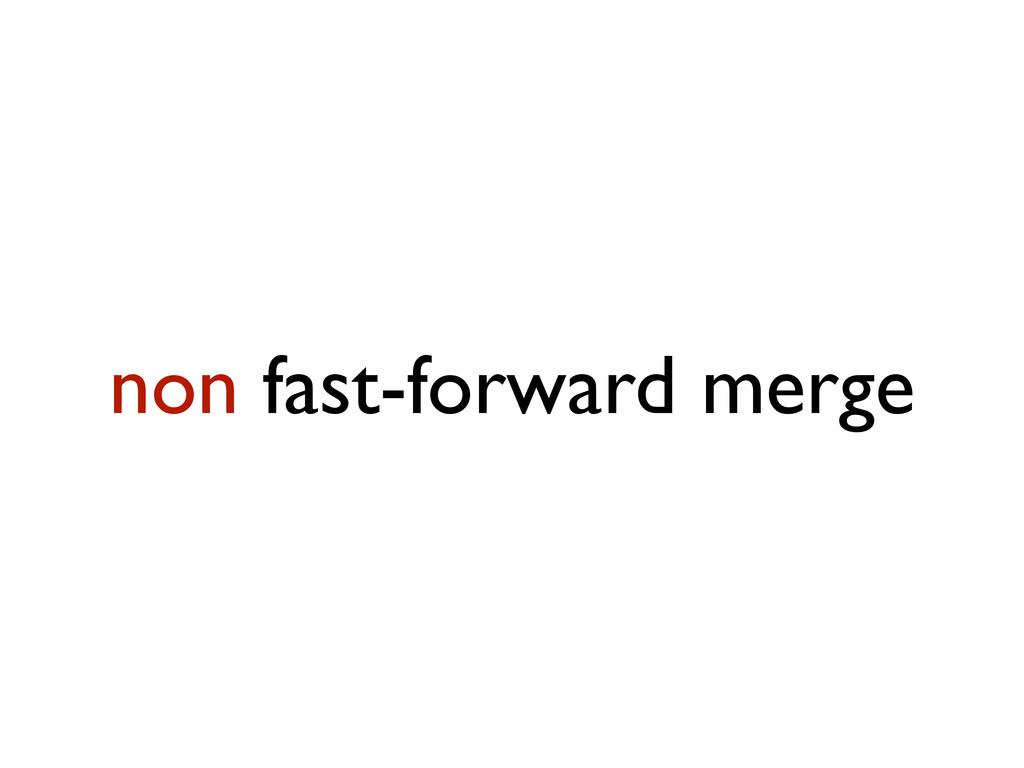 non fast-forward merge