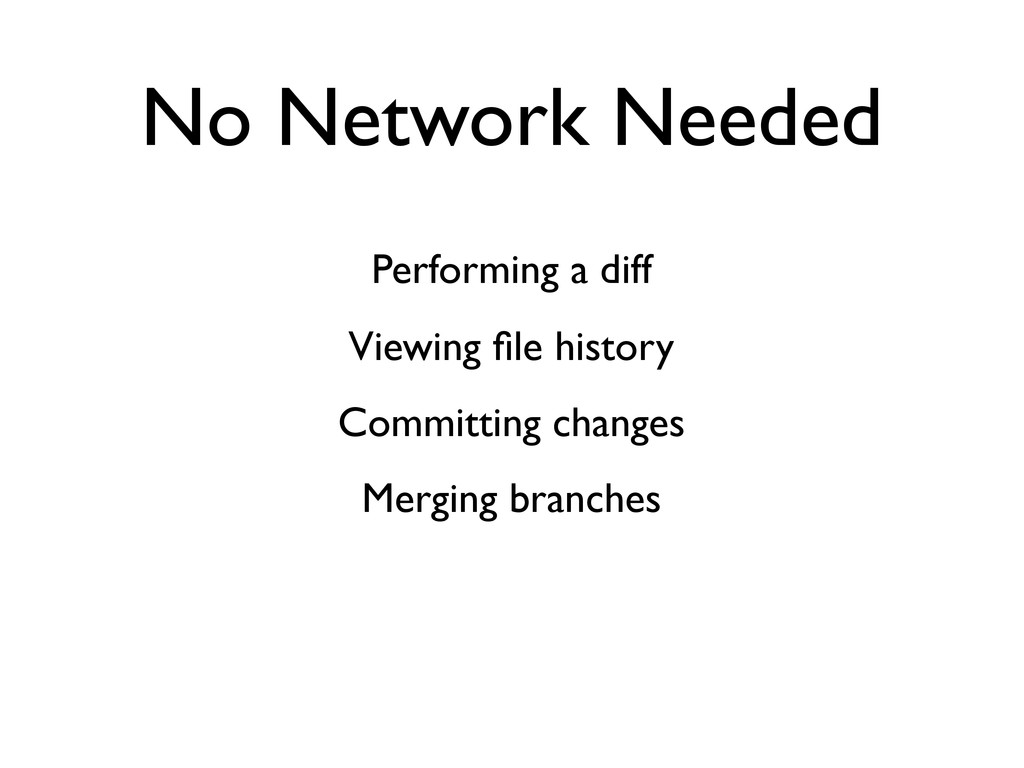 No Network Needed Performing a diff Viewing file...