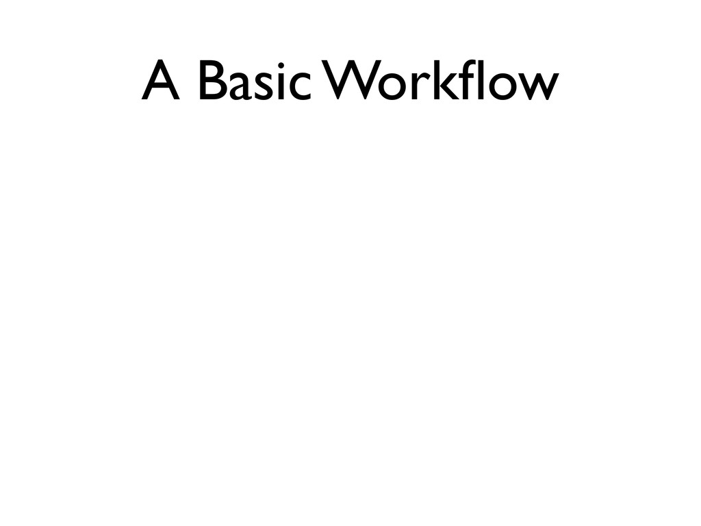 A Basic Workflow Edit files Stage the changes Rev...