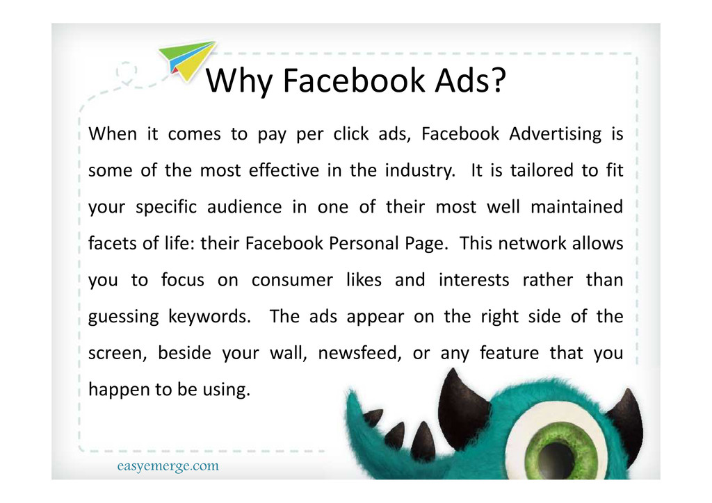 Why Facebook Ads? When it comes to pay per clic...