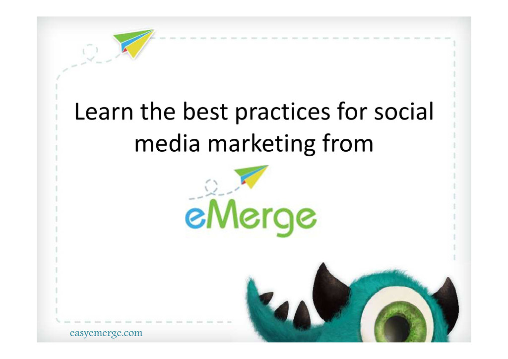 Learn the best practices for social media marke...