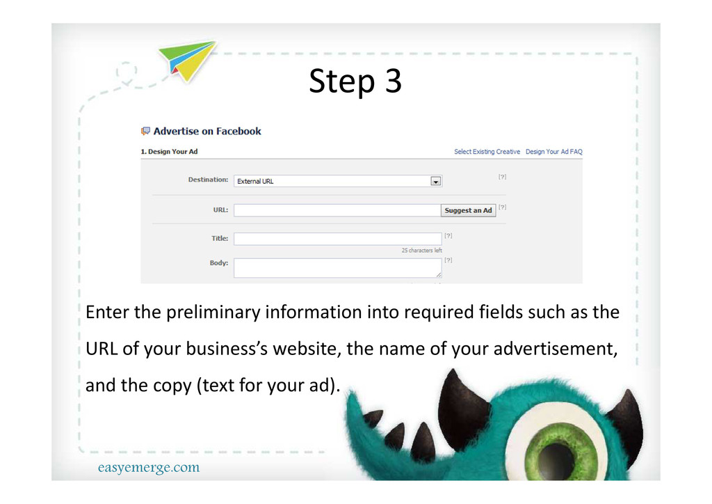 Step 3 Enter the preliminary information into r...