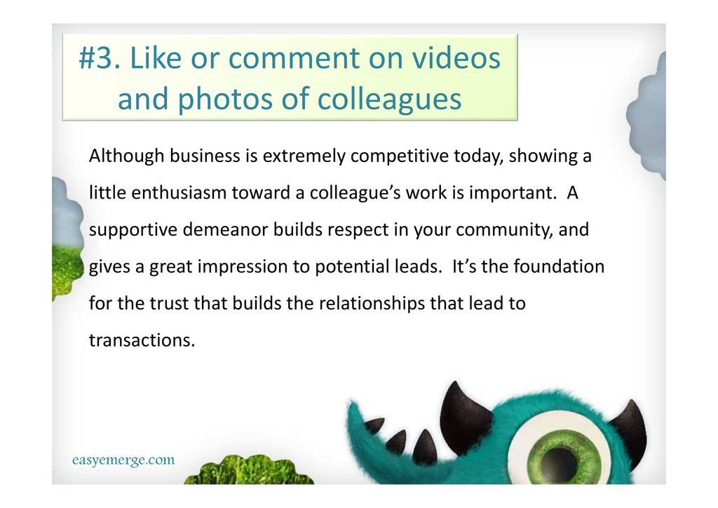 easyemerge.com #3. Like or comment on videos an...