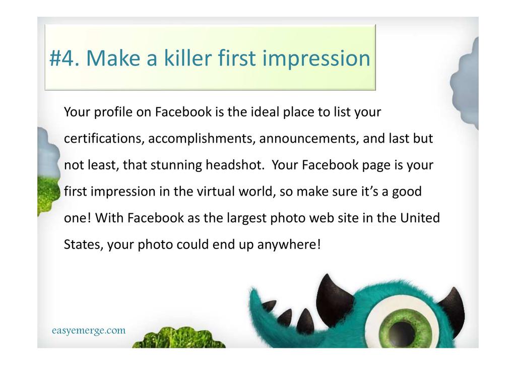 easyemerge.com #4. Make a killer first impressi...