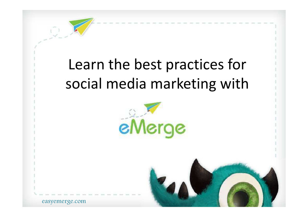 Learn The best practices in social media Market...