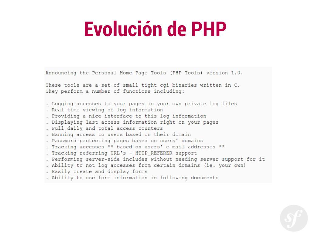 Evolución de PHP