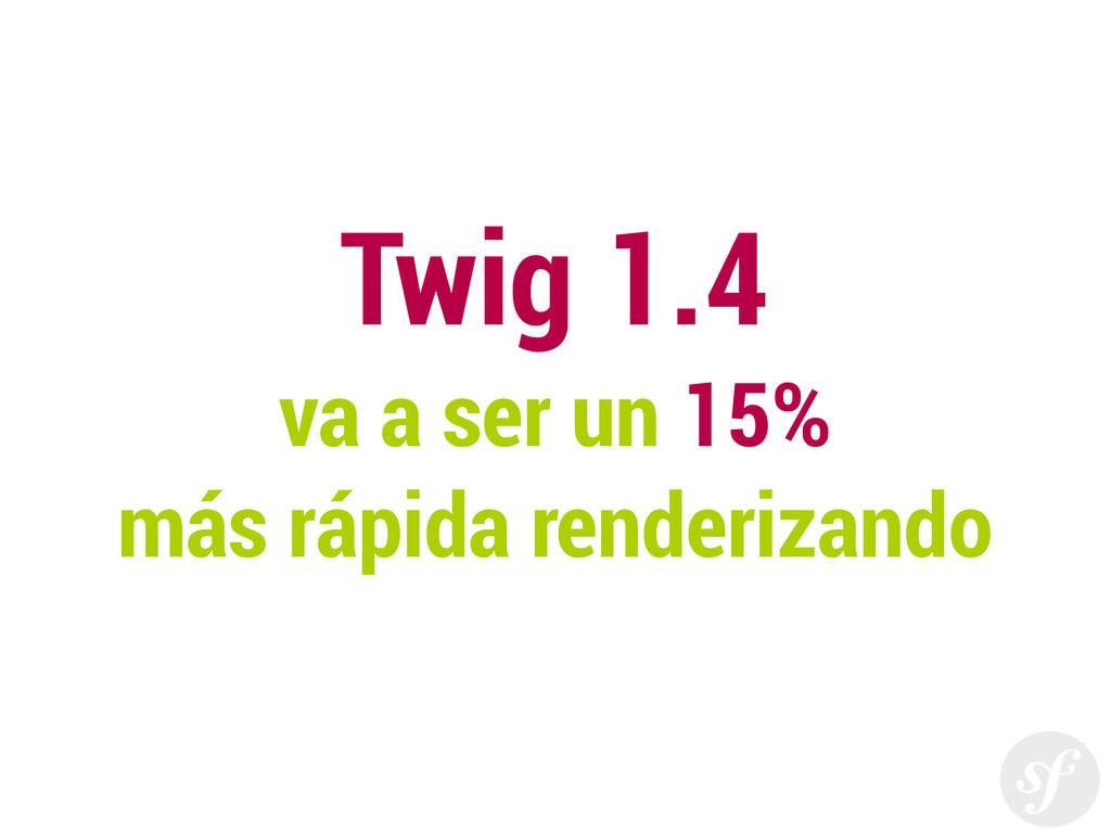 Twig 1.4 va a ser un 15% más rápida renderizando