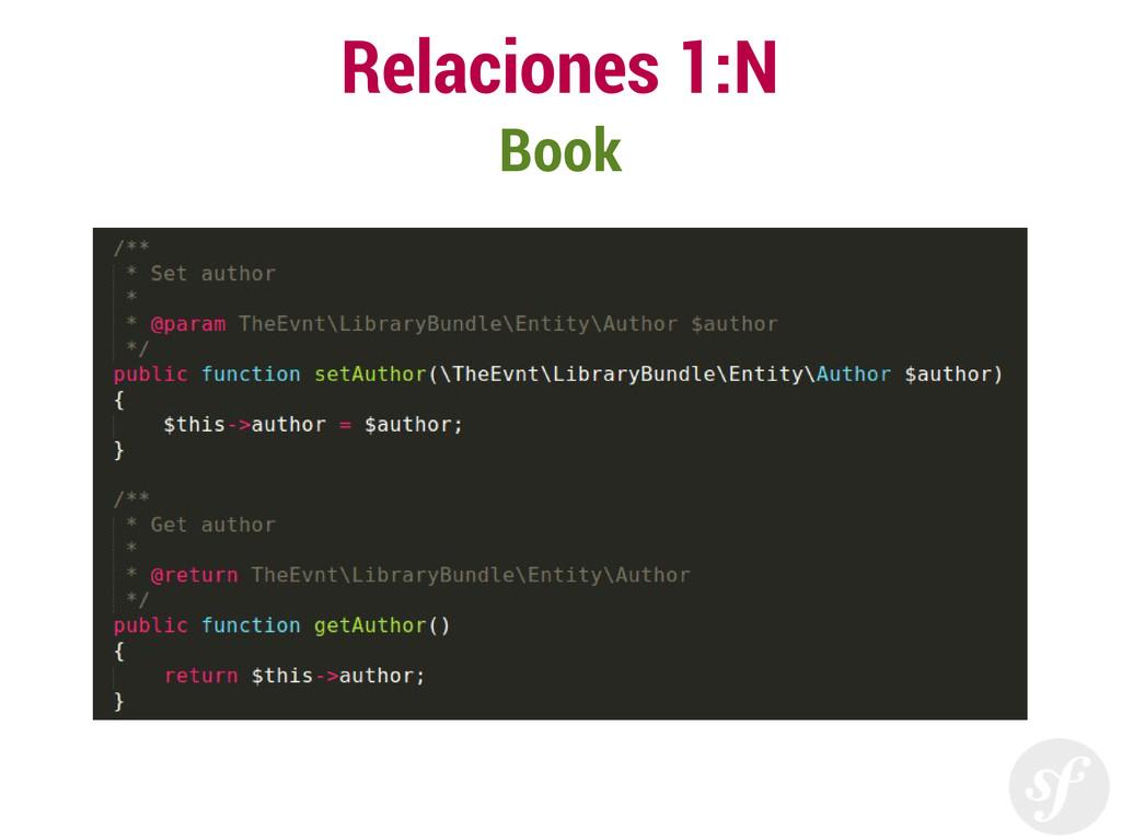 Relaciones 1:N Book