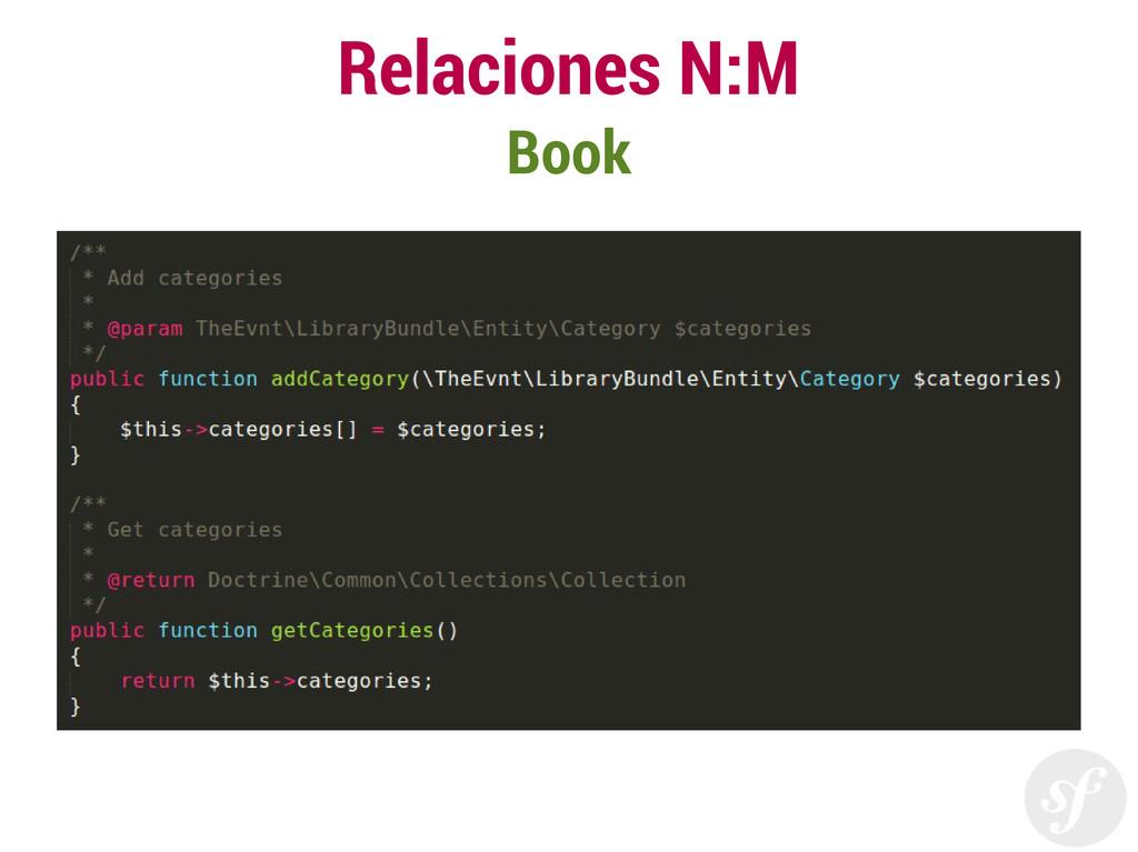Relaciones N:M Book