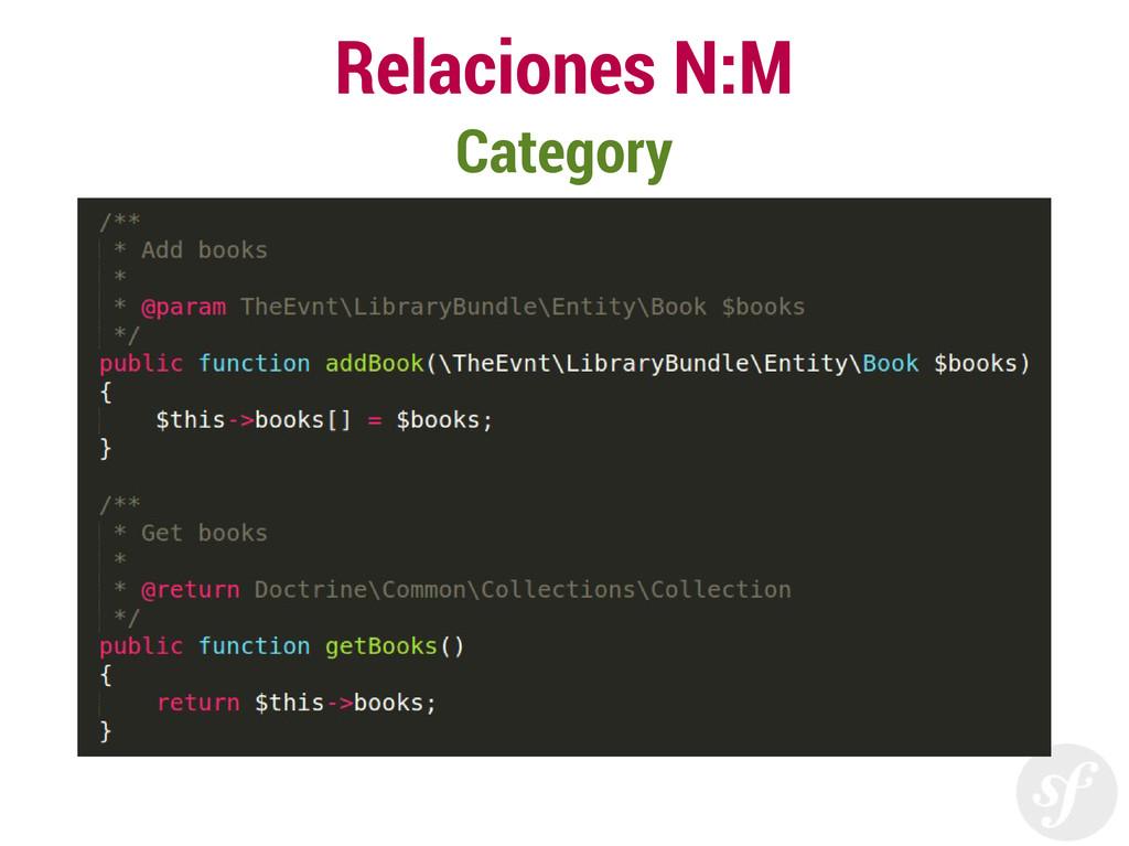 Relaciones N:M Category