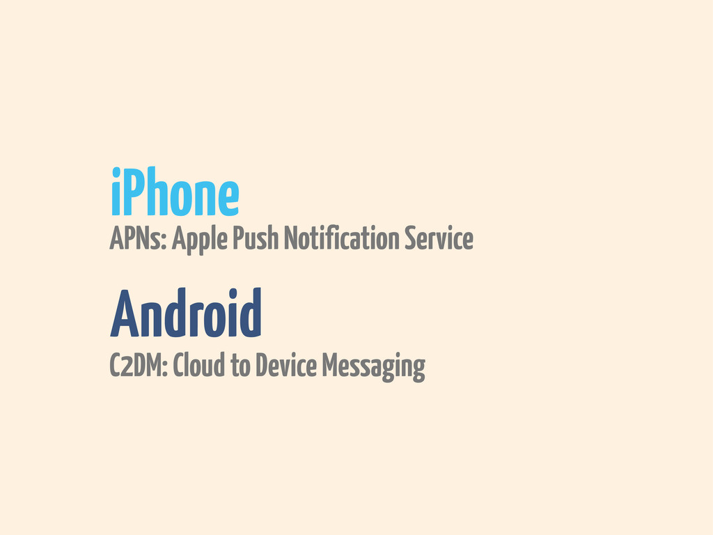 iPhone Android APNs: Apple Push Notification Se...
