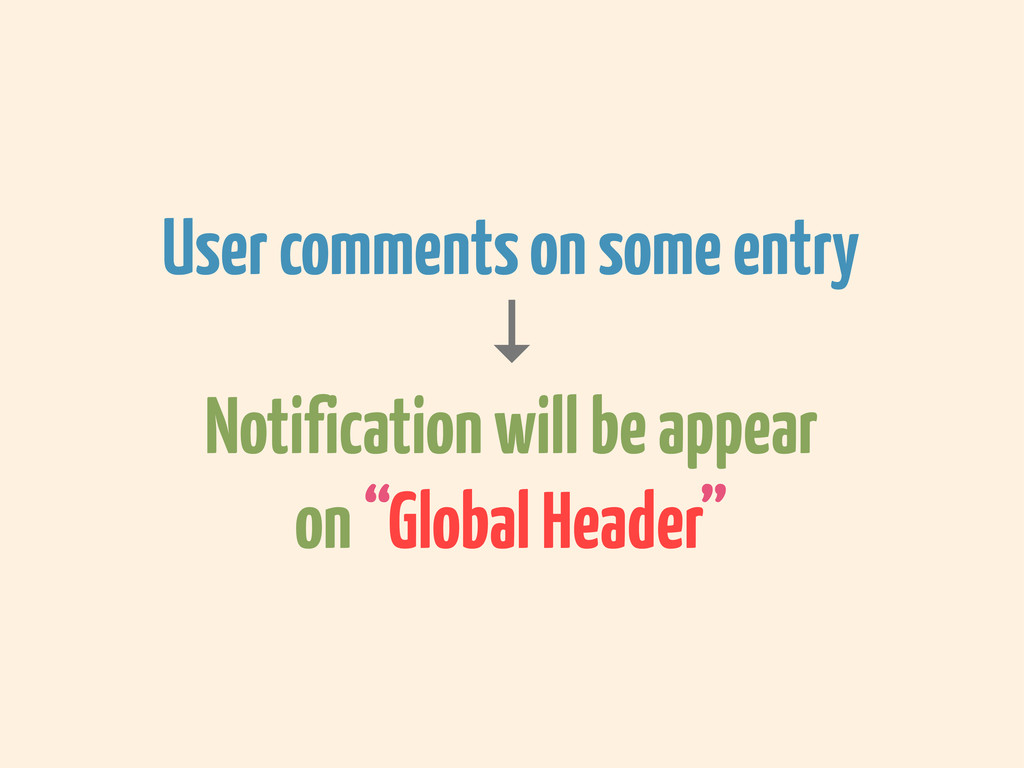 User comments on some entry ↓ Notification will...