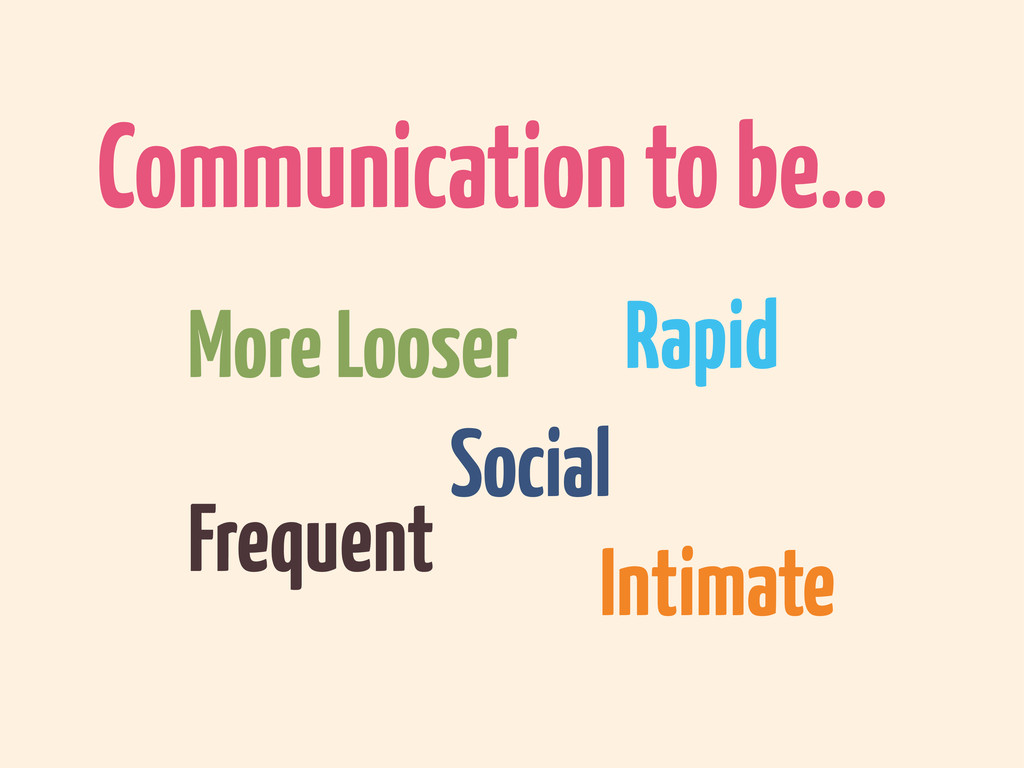 Rapid Communication to be... Social Frequent In...