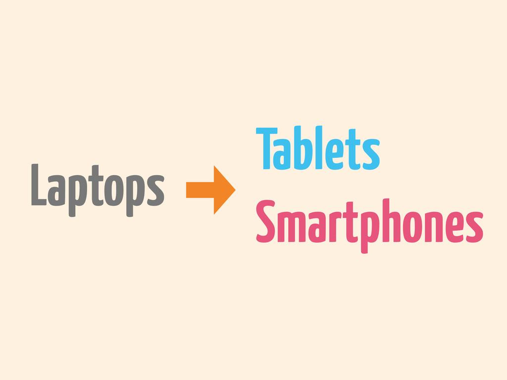 Laptops Smartphones Tablets