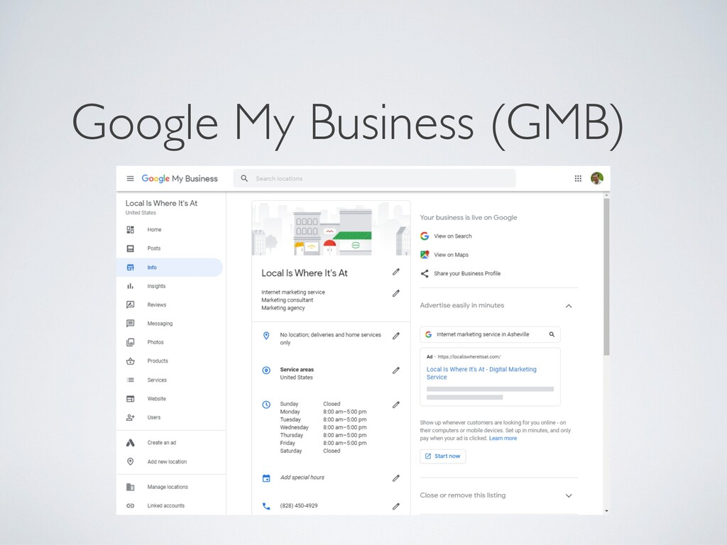 Google My Business (GMB)