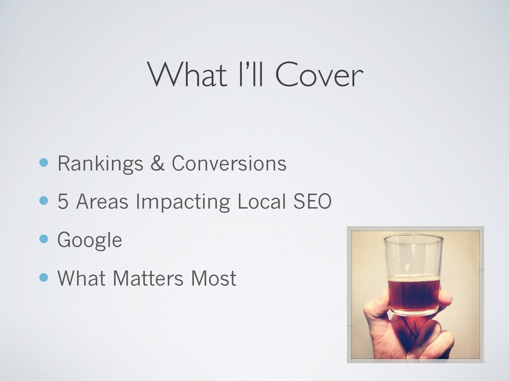 — Rankings & Conversions — 5 Areas Impacting Lo...