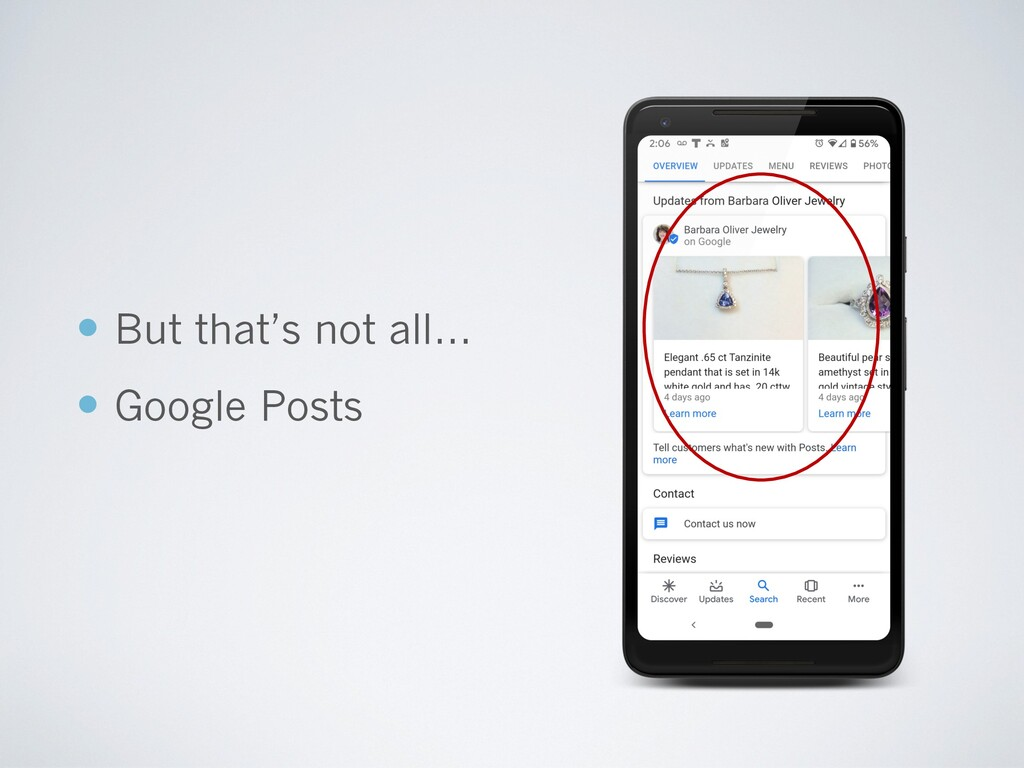 — But that's not all… — Google Posts