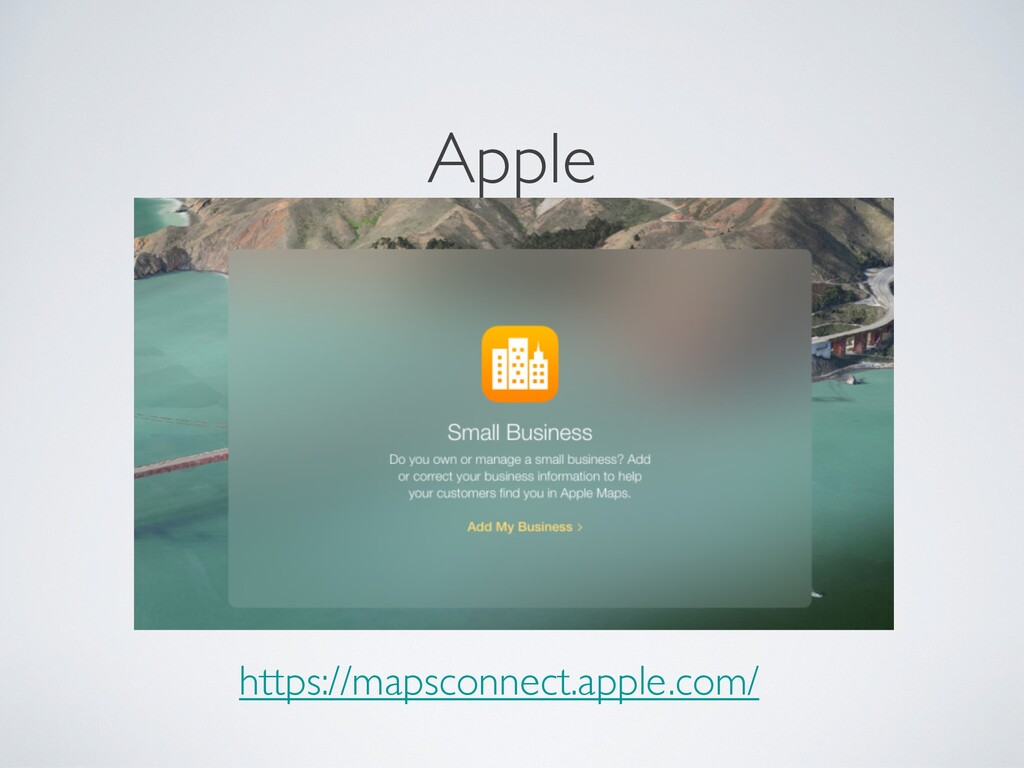 Apple https://mapsconnect.apple.com/
