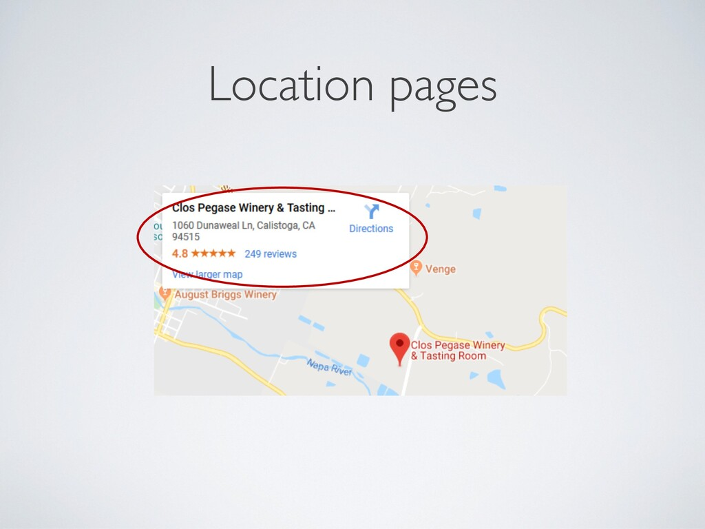 Location pages