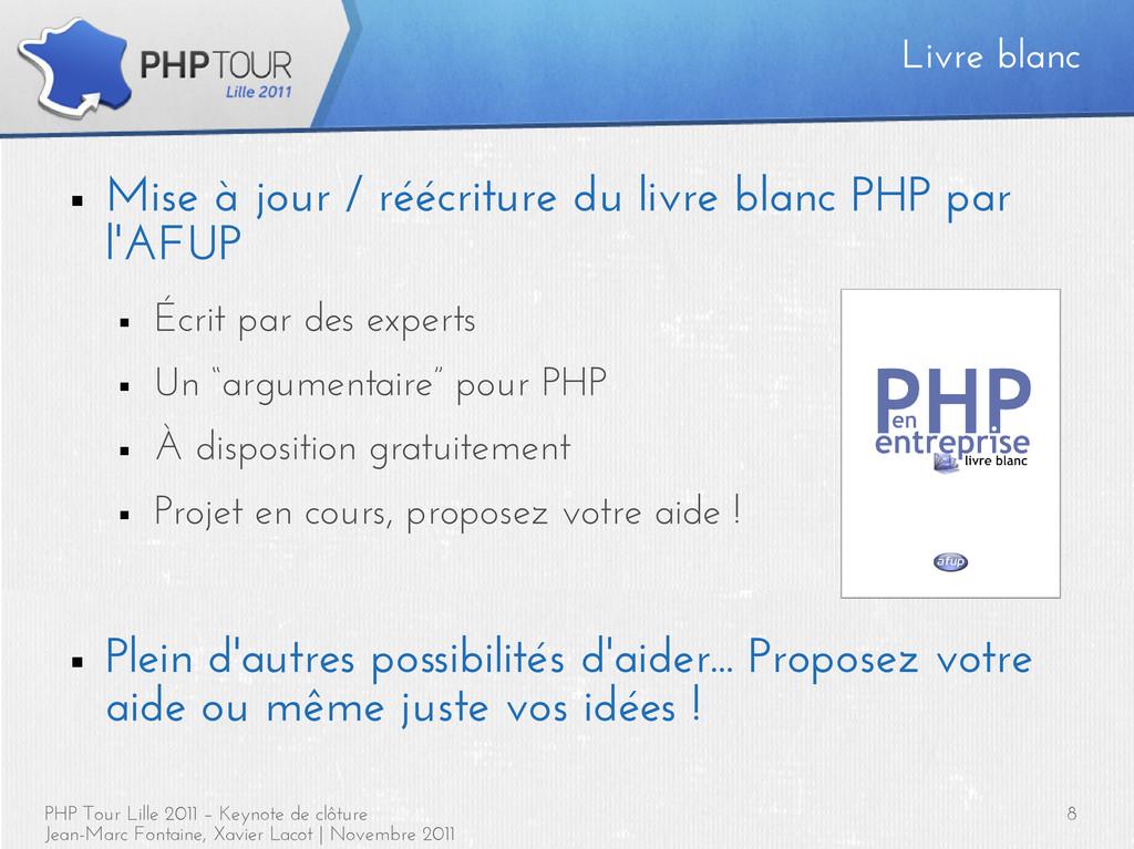 PHP Tour Lille 2011 – Keynote de clôture Jean-M...
