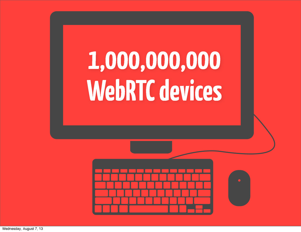 1,000,000,000 WebRTC devices Wednesday, August ...