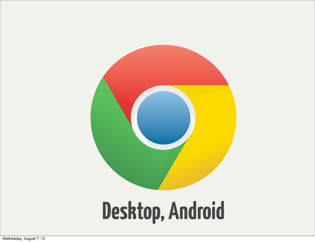 Desktop, Android Wednesday, August 7, 13