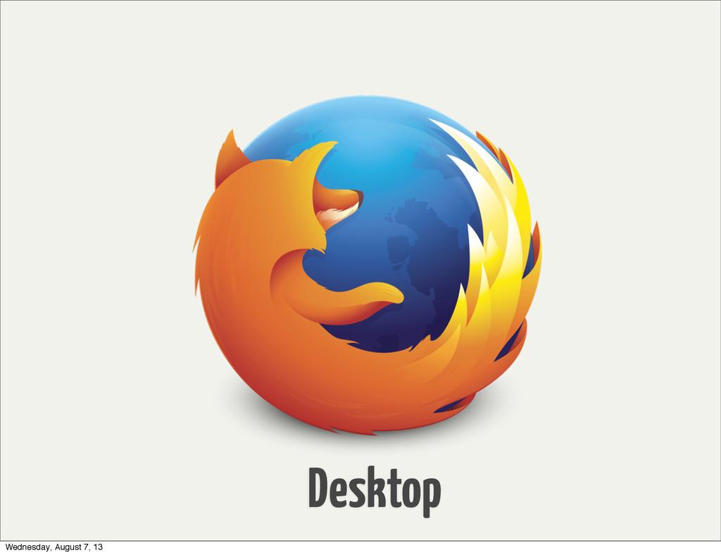 Desktop Wednesday, August 7, 13