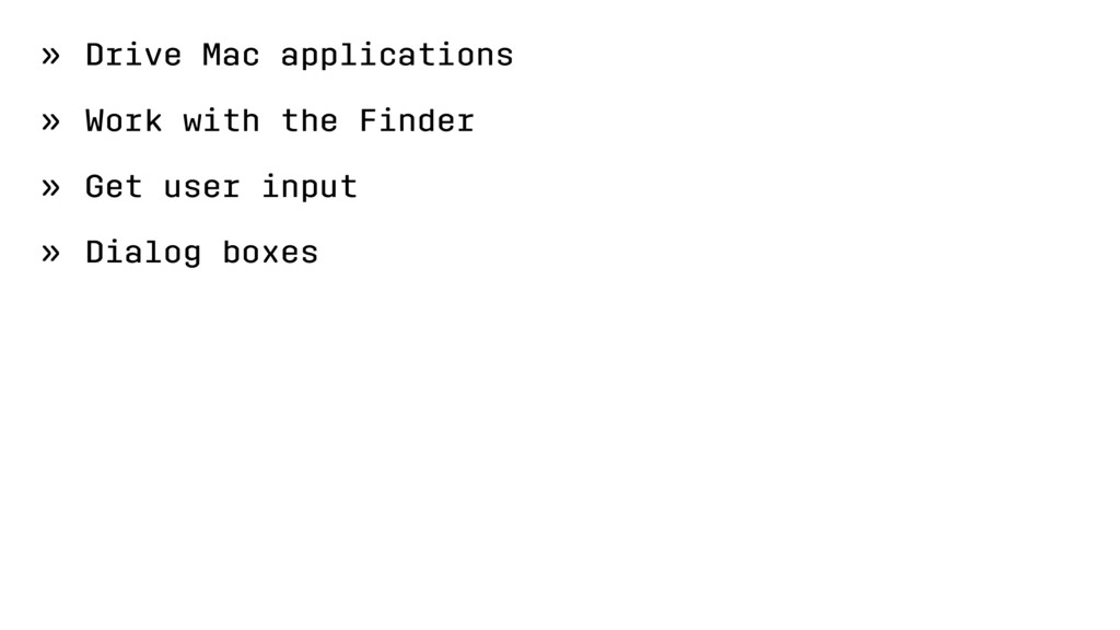 » Drive Mac applications » Work with the Finder...