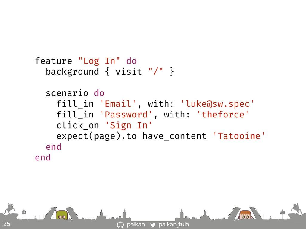 """palkan_tula palkan 25 feature """"Log In"""" do backg..."""