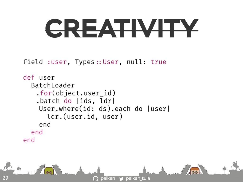 palkan_tula palkan CREATIVITY 29 field :user, T...