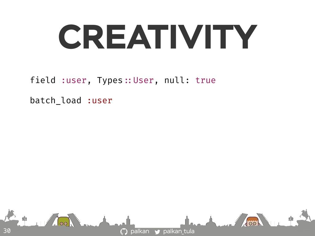 palkan_tula palkan CREATIVITY 30 field :user, T...