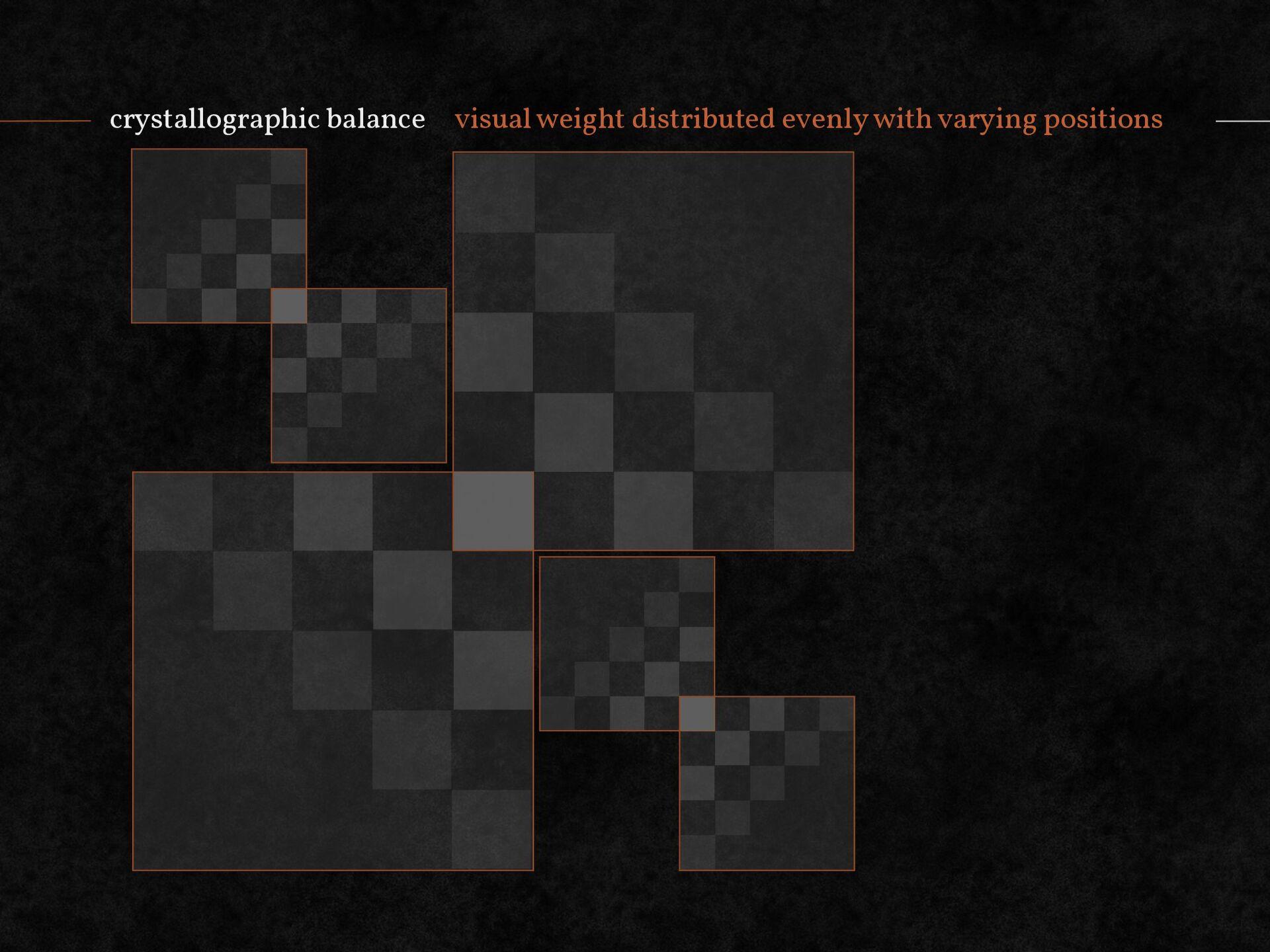 crystallographic balance visual weight distribu...