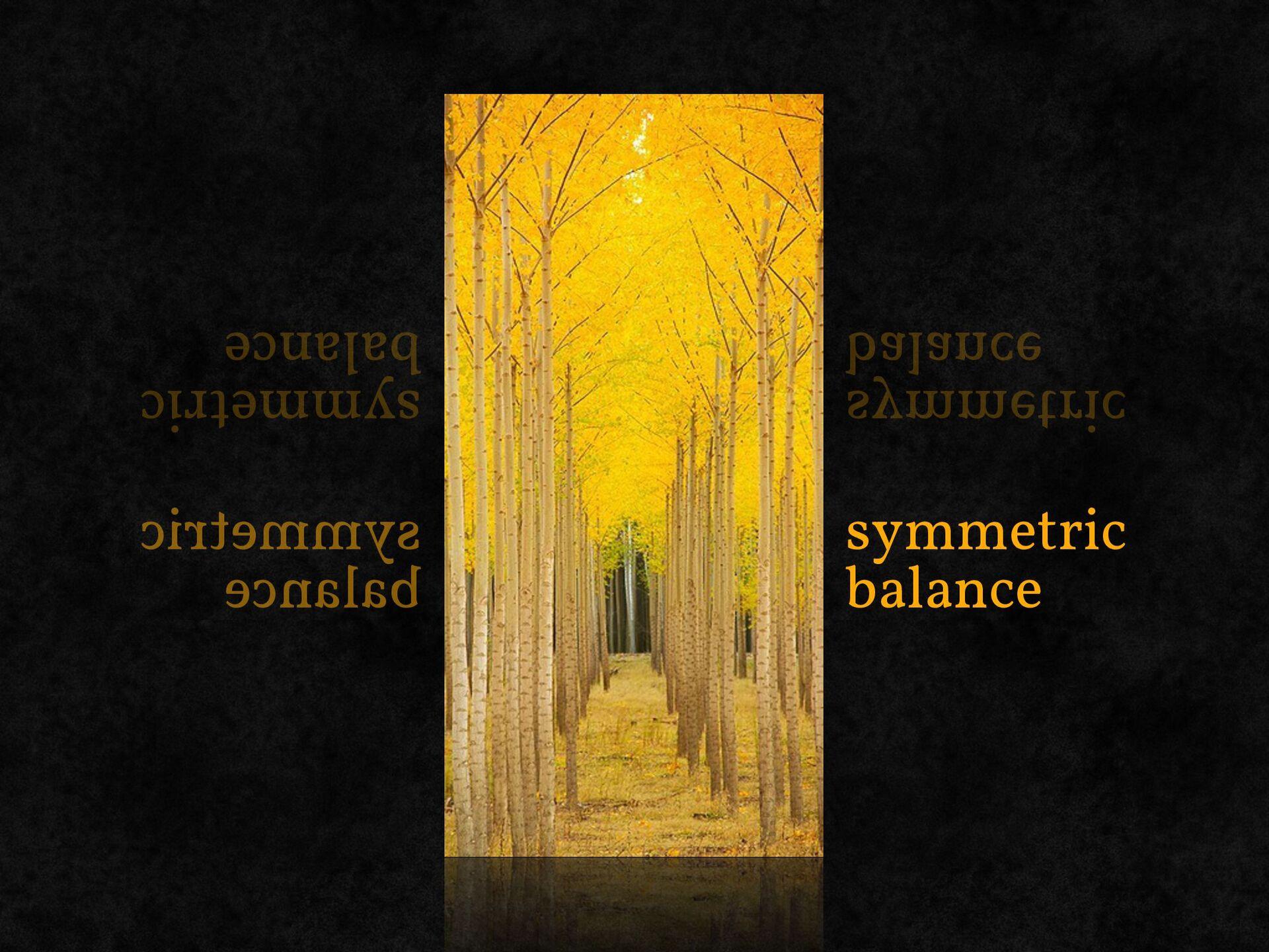 balance layout of content blocks and visual ele...