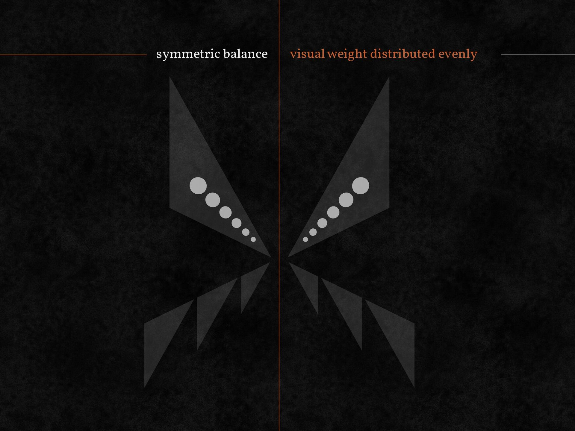 symmetric balance visual weight distributed eve...