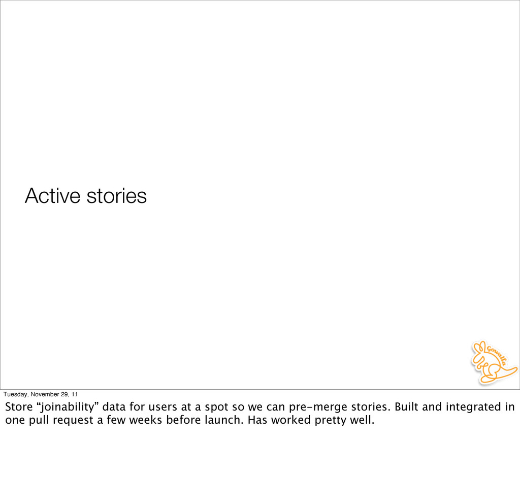 "Active stories Tuesday, November 29, 11 Store ""..."
