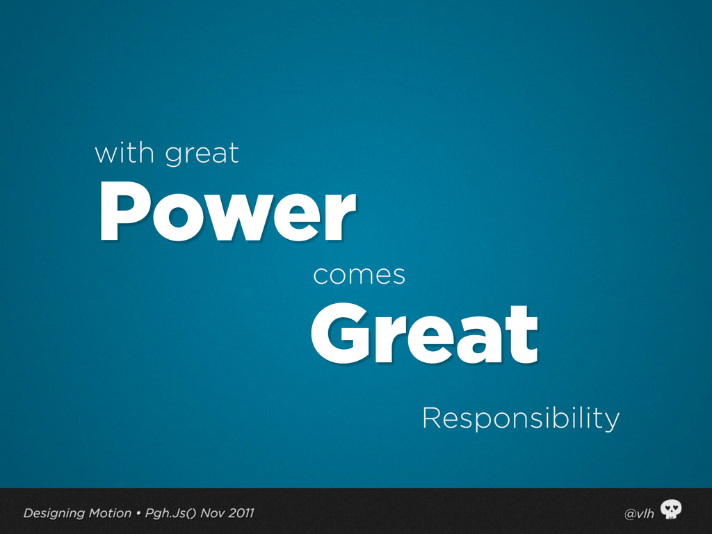 with great comes Responsibility Power Great