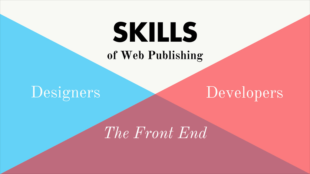 Designers Developers The Front End SKILLS of We...